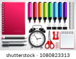 school materials vector set... | Shutterstock .eps vector #1080823313