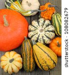 Top View Of Colorful Squash An...
