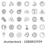 thin line icon set   circle... | Shutterstock .eps vector #1080852959