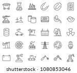 thin line icon set   offshore... | Shutterstock .eps vector #1080853046