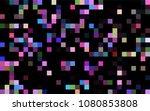 dark blue  yellow vector blurry ... | Shutterstock .eps vector #1080853808