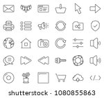 thin line icon set   globe... | Shutterstock .eps vector #1080855863