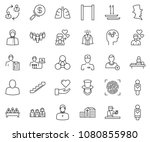 thin line icon set   super... | Shutterstock .eps vector #1080855980