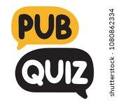 pub quiz. vector hand drawn...   Shutterstock .eps vector #1080862334