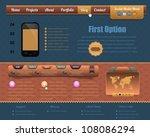 vintage style website design... | Shutterstock .eps vector #108086294