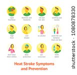 sunstroke symptoms icon set... | Shutterstock .eps vector #1080878330