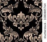 vector damask seamless pattern... | Shutterstock .eps vector #1080885764