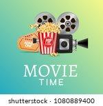 cinema movie vector poster... | Shutterstock .eps vector #1080889400