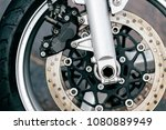 motorcycle wheel with disk... | Shutterstock . vector #1080889949