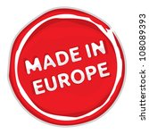 made in the eu stamp   Shutterstock .eps vector #108089393