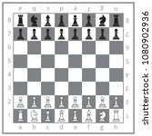 the initial position of chess | Shutterstock .eps vector #1080902936