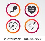 sperm icons. fertilization or... | Shutterstock .eps vector #1080907079