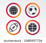 sport balls icons. volleyball ... | Shutterstock .eps vector #1080907736