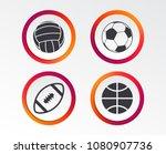 sport balls icons. volleyball ...   Shutterstock .eps vector #1080907736