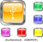 usb button | Shutterstock .eps vector #10809091