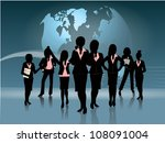 group of business woman...   Shutterstock .eps vector #108091004