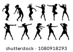 a set of woman dancers dancing... | Shutterstock .eps vector #1080918293