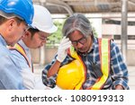 asian civil engineer team... | Shutterstock . vector #1080919313