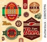 beer labels  badges and icons... | Shutterstock .eps vector #108092996