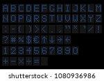 led digital alphabet.... | Shutterstock .eps vector #1080936986