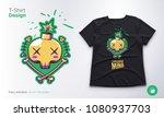 funny skeleton. print on t... | Shutterstock .eps vector #1080937703