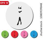 woman lingerie flat round... | Shutterstock .eps vector #1080939848