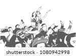 illustration of large croncert... | Shutterstock .eps vector #1080942998