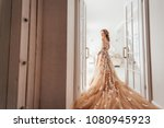 gorgeous young woman in elegant ... | Shutterstock . vector #1080945923