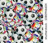 seamling soccer ball pattern... | Shutterstock . vector #1080946604