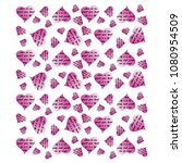 slogan  pink hearts background... | Shutterstock . vector #1080954509