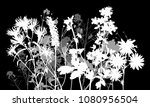 illustration with wild flowers... | Shutterstock .eps vector #1080956504
