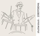 cartoon jazz character   Shutterstock .eps vector #1080958046