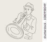 cartoon jazz character   Shutterstock .eps vector #1080958049