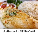 grilled fish fillet with gravy... | Shutterstock . vector #1080964628