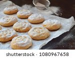 sesame shortbread with date... | Shutterstock . vector #1080967658