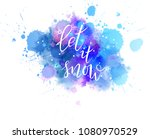 let it snow abstract... | Shutterstock . vector #1080970529