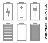 battery charge icon set. vector.