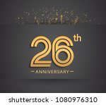 26th anniversary design for... | Shutterstock .eps vector #1080976310