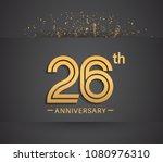 26th anniversary design for... | Shutterstock .eps vector #1080976310