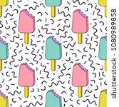 vector trendy seamless pattern... | Shutterstock .eps vector #1080989858