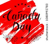 canada day background with... | Shutterstock .eps vector #1080992783