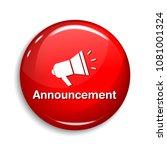 announcement round vector web... | Shutterstock .eps vector #1081001324