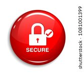 secure round vector web element ... | Shutterstock .eps vector #1081001399