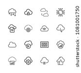 premium set of computer cloud... | Shutterstock .eps vector #1081001750