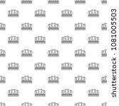 snow crown pattern vector... | Shutterstock .eps vector #1081005503