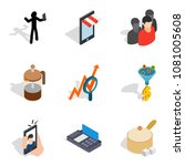 wholesale purchase icons set....   Shutterstock .eps vector #1081005608
