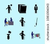icons about human with graphic  ... | Shutterstock .eps vector #1081006043