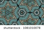 hand painted kaleidoscope tile. ... | Shutterstock . vector #1081010078