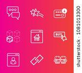premium set with outline vector ... | Shutterstock .eps vector #1081013300
