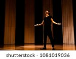 young actor in a theater. | Shutterstock . vector #1081019036
